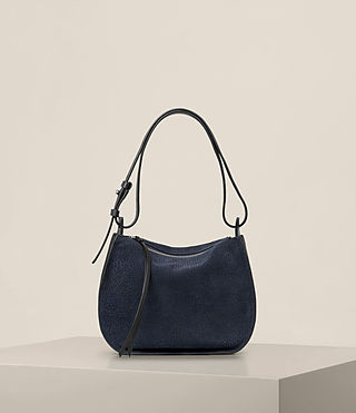 Womens Echo Mini Hobo Bag (MARINE BLUE/BLACK)