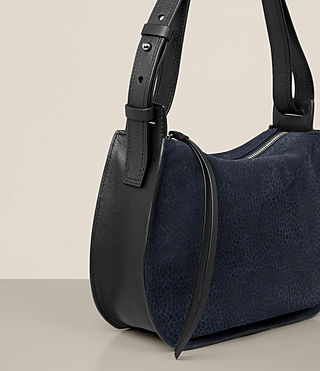 Women's Echo Mini Hobo Bag (MARINE BLUE/BLACK) - product_image_alt_text_4