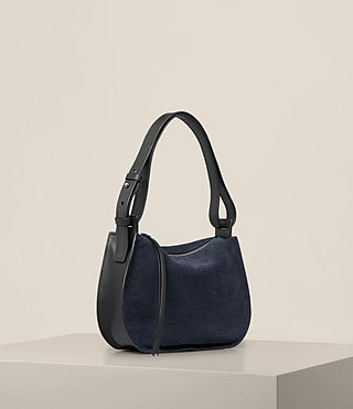 Womens Echo Mini Hobo Bag (MARINE BLUE/BLACK) - product_image_alt_text_6