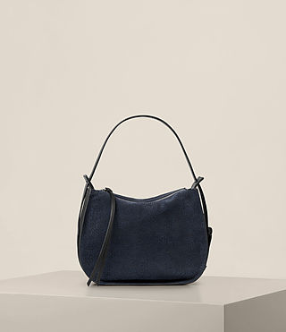 Women's Echo Mini Hobo Bag (MARINE BLUE/BLACK) - product_image_alt_text_7