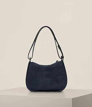 Women's Echo Mini Hobo Bag (MARINE BLUE/BLACK) - product_image_alt_text_9