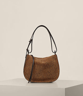 Womens Echo Mini Hobo Bag (CARAMEL/BLACKBERRY) - product_image_alt_text_1