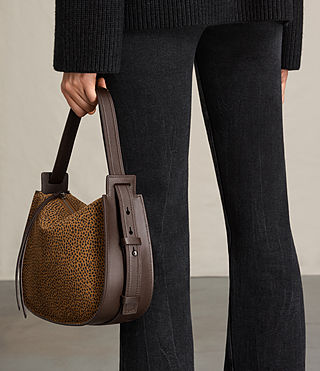Womens Echo Mini Hobo Bag (CARAMEL/BLACKBERRY) - product_image_alt_text_3