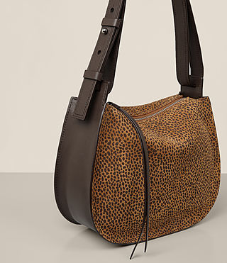 Womens Echo Mini Hobo Bag (CARAMEL/BLACKBERRY) - product_image_alt_text_4