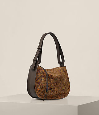 Womens Echo Mini Hobo Bag (CARAMEL/BLACKBERRY) - product_image_alt_text_6