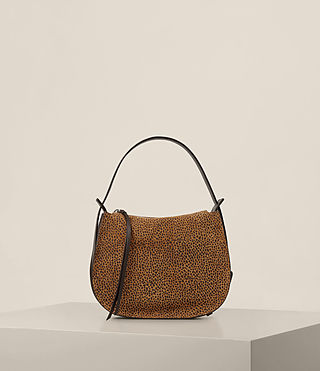 Womens Echo Mini Hobo Bag (CARAMEL/BLACKBERRY) - product_image_alt_text_7