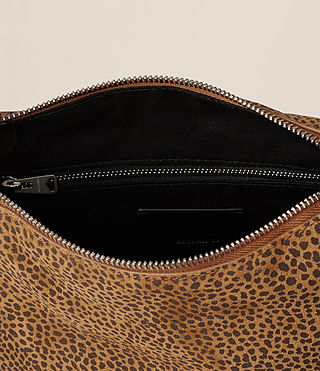 Womens Echo Mini Hobo Bag (CARAMEL/BLACKBERRY) - product_image_alt_text_8