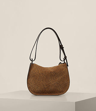 Womens Echo Mini Hobo Bag (CARAMEL/BLACKBERRY) - product_image_alt_text_9