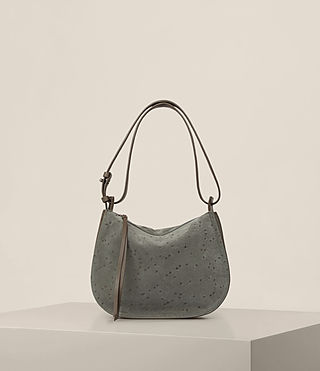 Womens Echo Mini Hobo Bag (Smoke Grey)