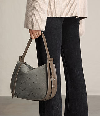 Womens Echo Mini Hobo Bag (Smoke Grey) - product_image_alt_text_3