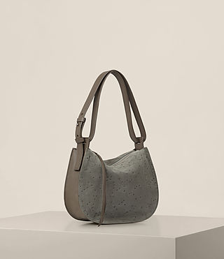 Women's Echo Mini Hobo Bag (Smoke Grey) - product_image_alt_text_6