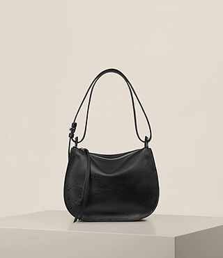 Womens Echo Mini Hobo Bag (Black)