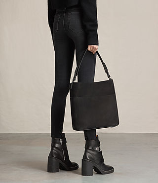 Womens Echo North South Tote (Black) - product_image_alt_text_2