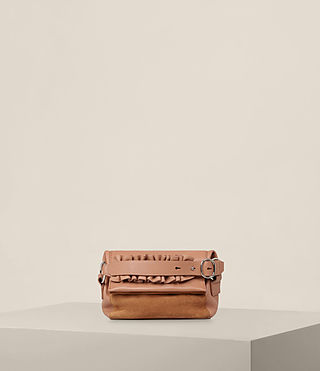 Mujer Maya Soft Clutch (LIGHT CARAMEL) -