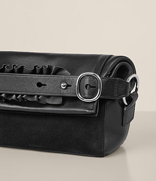 Women's Maya Soft Clutch (Black) - product_image_alt_text_3