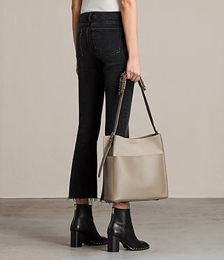 Women's Maya North South Tote (TAUPE GREY) - product_image_alt_text_2