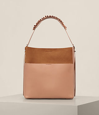 Womens Maya North South Tote (LIGHT CARAMEL)