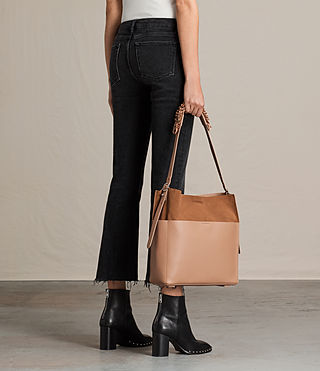 Women's Maya North South Tote (LIGHT CARAMEL) - product_image_alt_text_2