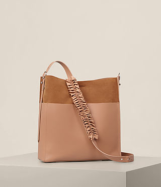 Women's Maya North South Tote (LIGHT CARAMEL) - product_image_alt_text_5