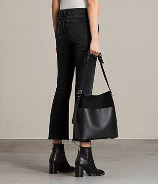 Womens Maya North South Tote (Black) - product_image_alt_text_2