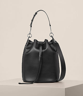 Womens Ray Bucket Bag (Black) - Image 1