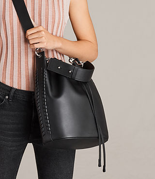 Womens Ray Bucket Bag (Black) - Image 3