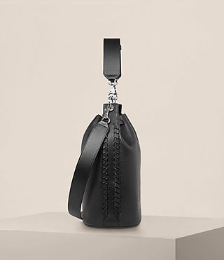 Womens Ray Bucket Bag (Black) - Image 5