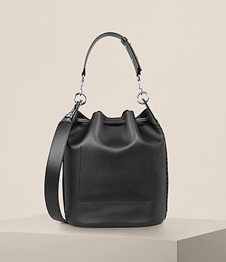 Womens Ray Bucket Bag (Black) - Image 8