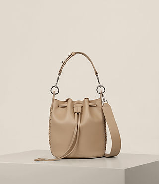 Womens Ray Small Bucket Bag (Sand) - Image 1