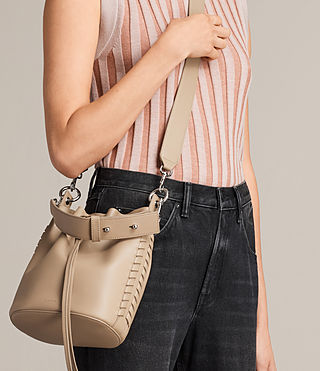 Womens Ray Small Bucket Bag (Sand) - Image 2