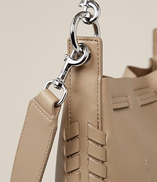 Womens Ray Small Bucket Bag (Sand) - Image 4