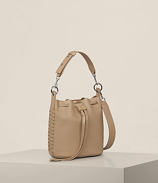 Womens Ray Small Bucket Bag (Sand) - Image 7