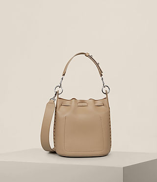 Womens Ray Small Bucket Bag (Sand) - Image 9