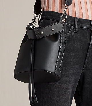 Womens Ray Small Bucket Bag (Black) - Image 2