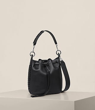 Womens Ray Small Bucket Bag (Black) - Image 7