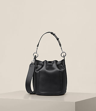 Womens Ray Small Bucket Bag (Black) - Image 9