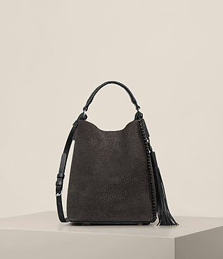 Womens Pearl Mini Hobo Bag (Graphite/Black)