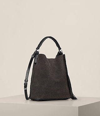 Womens Pearl Mini Hobo Bag (Graphite/Black) - product_image_alt_text_5