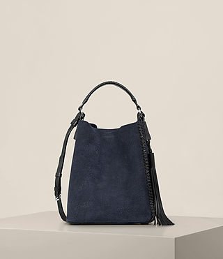 Womens 펄 미니 호보 백 (MARINE BLUE/BLACK)