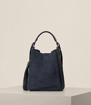 Womens Pearl Mini Hobo Bag (MARINE BLUE/BLACK) - product_image_alt_text_7