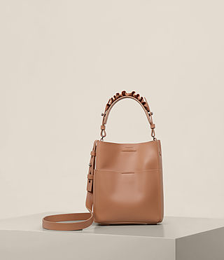 Womens Maya Mini North South Tote (Caramel)