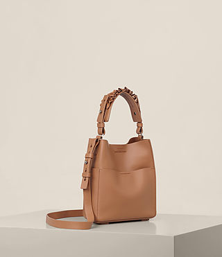 Womens Maya Mini North South Tote (Caramel) - product_image_alt_text_5
