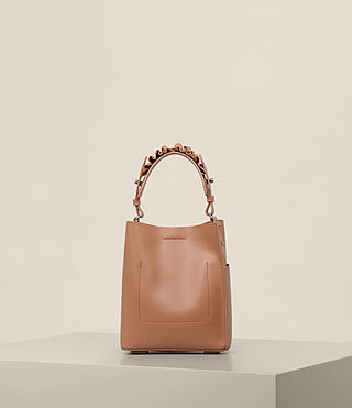 Womens Maya Mini North South Tote (Caramel) - product_image_alt_text_7
