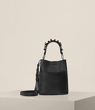 Womens Maya Mini North South Tote (Black) - product_image_alt_text_1