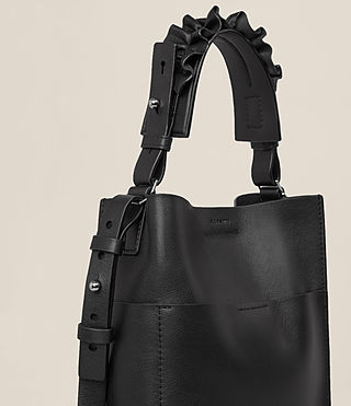 Womens Maya Mini North South Tote (Black) - product_image_alt_text_3