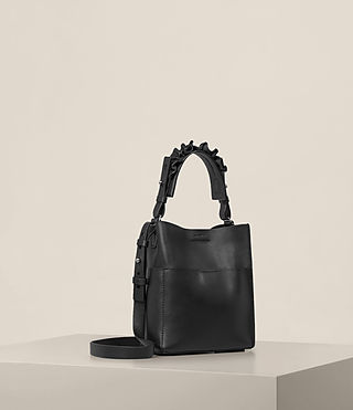 Womens Maya Mini North South Tote (Black) - product_image_alt_text_5