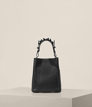 Womens Maya Mini North South Tote (Black) - product_image_alt_text_7