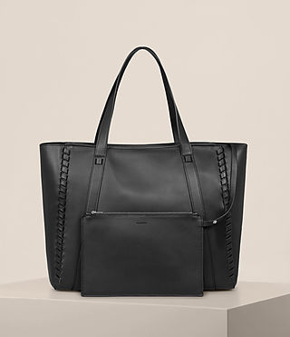 Womens Ray East West Tote (Black) - Image 6