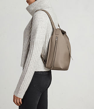 Womens Kita Small Backpack (TAUPE GREY) - Image 3