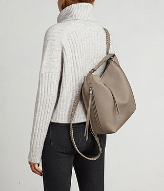Womens Kita Small Backpack (TAUPE GREY) - Image 4